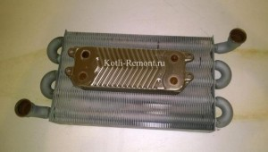 Демонтированные первичный и вторичный теплообменники