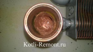 Результат промывки первичного теплообменника