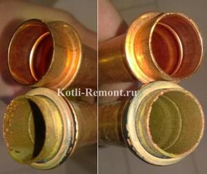 Замена трубок газового котла на новые