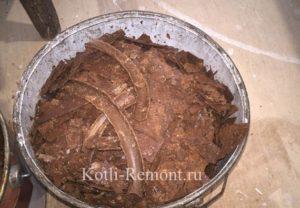 Жесткие кальциевые отложения из газового котла Baxi